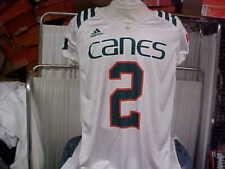 University of Miami Hurricanes Adidas White Game Worn Practice Jersey #2 Large