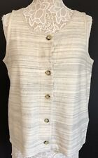 Lucky Brand Women's Tank Top size: Large Color: Oatmeal 7W63923  NEW w/tag