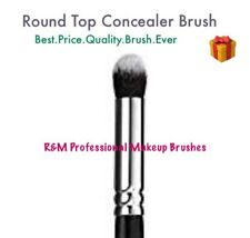 ROUND TOP CONCEALER BRUSH - Professional Make Up Brushes Blending Buffer Sku 142