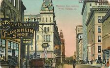 Toledo Ohio~Huge Florsheim Shoe Sign~Dentist Estell~Criterion Cigar Store 1909
