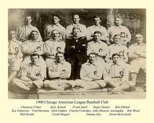 1900 Chicago White Sox - 8 x 10 B/W Team photo(RARE)