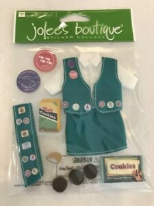 Jolee's Boutique HER SCOUTING Sticker Collage - Scrapbook Stickers - Girl Scout