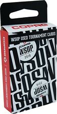 Authentic Black Deck WSOP Final Table Used Copag Poker Plastic Playing Cards