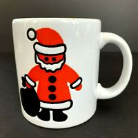 Waechtersbach Santa Claus with Toy Sack Christmas White Mug W. Germany Vintage
