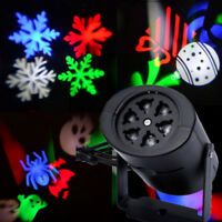 Outdoor Snowflake LED Light Moving Snow Laser Projector Garden Party Xmas Decor