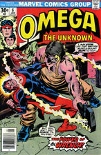 OMEGA THE UNKNOWN # 6 VF/NM 1977 Gerber Mooney MARVEL COMICS *ShipFree w/$35 Ord