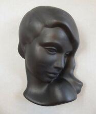 Keramik Wandmaske Frau Mädchen 535 Rockabilly Wall Mask um 1959