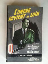 L'OMBRE REVIENT DE LOIN 1959 ALAIN PAGE FLEUVE NOIR L'AVENTURIER
