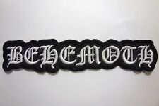 BEHEMOTH  SHAPED  WHITE LOGO EMBROIDERED PATCH