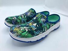 Easy Street Sport Kana Ultralight Mules (2041) Blue/Green Leaf Size 6N