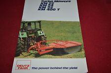 Deutz Fahr Turbo Mowers Dealer's Brochure DCPA4