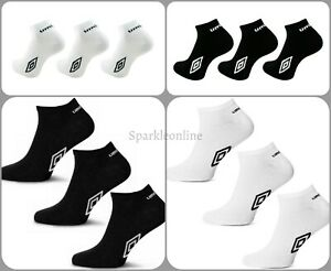 6 Pairs Umbro Mens Official Trainer Liner Sports Socks Cotton Rich Adults 6-11