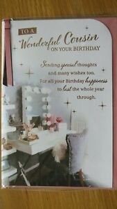 A WONDERFUL COUSIN LARGE SIZE BIRTHDAY GREETING CARD