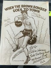 Rare joe louis sheet music, when the brown bomber goes to town