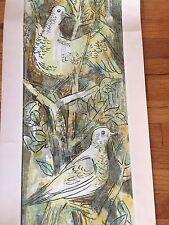 GUY MACCOY Modern Art Color Silkscreen ~Yellow Birds ~ Pencil Signed ~ as is