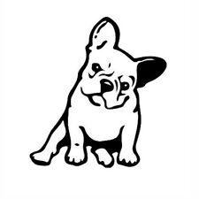 Wholesale Black 3D Car Stickers French Bulldog Cartoon Dog Vinyl Car Decal Decor