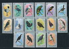 SAINT LUCIA 1976 BIRDS definitives complete VF MNH