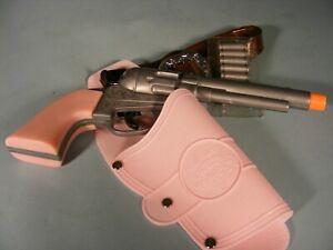 Western Pink Toy Gun & Pink Holster Embossed Wet Western Set Old West Pistol
