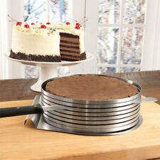 Easy Adjustable 6 Layer Cake Slicer Cutting Guide 16cm to 20cm High Quality 430