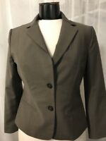 Ann Taylor Women's Blazer 2 Button Fully Lined Brown Wool Blend Size 4 Mint!