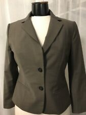Ann Taylor Women's Blazer 2 Button Fully Lined Brown Wool Blend Size 4