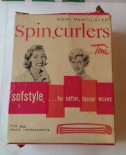 Vintage 46 Softstyle Ventilated Spin & 5 Midget Size Curlers by Toni  Permanents