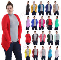 WOMEN LONG SLEEVE BOYFRIEND CARDIGAN PLUS SIZE CASUAL CARDIGAN TOP SIZES 8-26