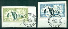 Terres Australes et Antartiques, Pinguine , Nr.8 + 9 auf Briefstücken