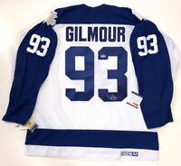 DOUG GILMOUR SIGNED 1991 TORONTO MAPLE LEAFS CCM VINTAGE JERSEY PSA/DNA COA