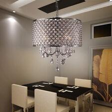 LED Lampe Suspendue Lustre en Cristal Intérieur Luminaire de Plafond Salon Neu