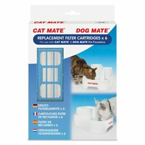 Cat Mate Replacement Filter Cartridge for Pet Fountain - 6 Count
