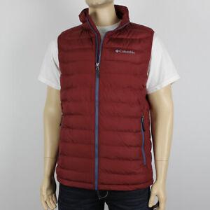 "New Mens Columbia ""White Out"" Insulated Omni-Heat Omni-Shield Vest"