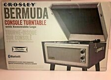 Crosley Dansette Bermuda Console Turntable Removable Legs Grey/Black CR6233D-DB