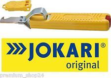 JOKARI KabelMesser mit Hakenklinge Elektro Entmanteler Cable Knife in gelb 122mm