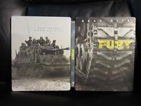 Fury [UK] HMV Exclusive Blu-Ray Digital HD Steelbook Region Free Mint Debossed