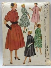 1952 Vintage McCall's Sewing Pattern 9130 Womens Dress Negligee Coat Sz 12 5080F