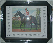 Black Caviar Hand Signed Nolen and Moody Framed Fine Art Brian Clinton Print