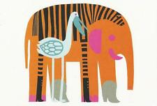 Postcard Maija Louekari Marimekko Design: Karkuteilla, 2006 Elephant MINT