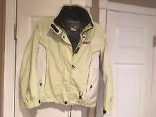 Spyder Youth Size 12 Unisex Jacket White & Lime Green