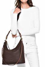 Michael Kors Bag Lupita LG Shoulder Hobo Bag Braun Acorn New