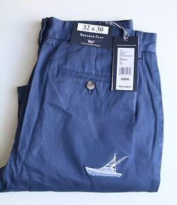 Vineyard Vines Chinos, 32 x 30, Moonshine Blue, Boats!, Cotton, NWT