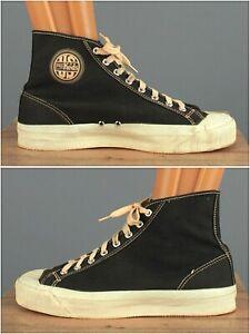 Vtg Men's 1950s US Pro Keds Cap Toe High Top Sneakers 9.5-10 Wide (?) 50s Shoes