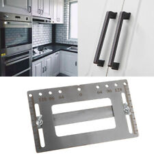 Stainless Cabinet Handle Jig Template Drill Guide Punch Locator Woodworking Tool