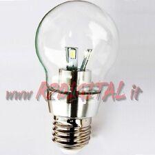 LAMPADA GOCCIA 5W / 50W SMD E27 FREDDA LAMPADINA LED TRASPARENTE LUCE LAMPADARIO