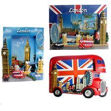 "3 X LONDON BUS BIG BEN TOWER BRIDGE PHOTO FRAME 4"" X 6"" BRITISH  SOUVENIR GIFT"