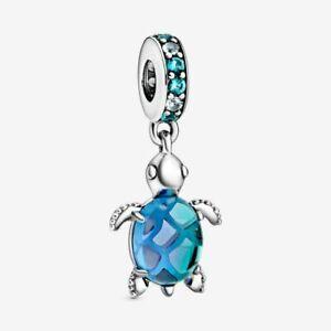 GENUINE PANDORA Ocean Murano Glass Sea Turtle Charm 798939C01