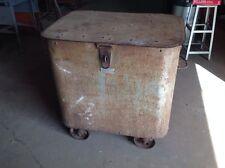 Old  Metal Steel Industrial Steampunk Loft Storage Bin Chest Littleford Brothers