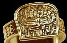 Egyptian Isis Goddess Ring egypt Jewelry Gold plated OVR sterling silver Jewelry
