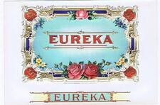 Eureka inner cigar box label 1908 roses