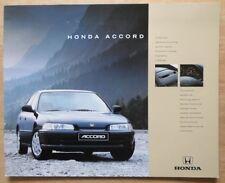 HONDA ACCORD SALOON orig 1993 UK Mkt Sales Brochure